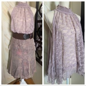 Free people flirty lace gathered top